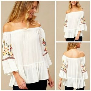 Pretty Embroidered Boho Style Blouse